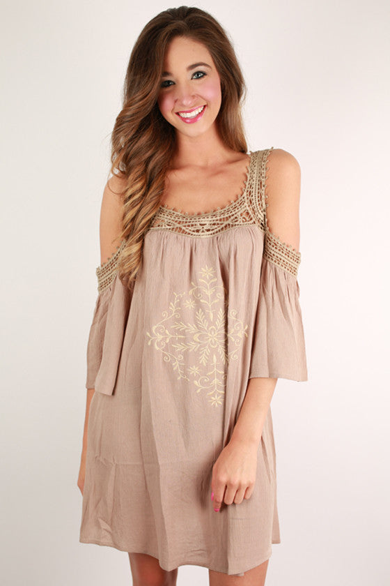 Pardon My Pretty Dress in Mocha