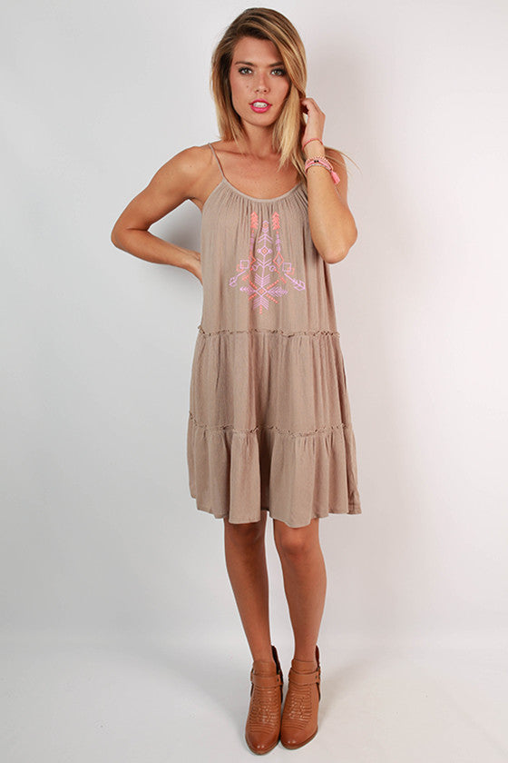 Sweetest Memories Dress in Mocha