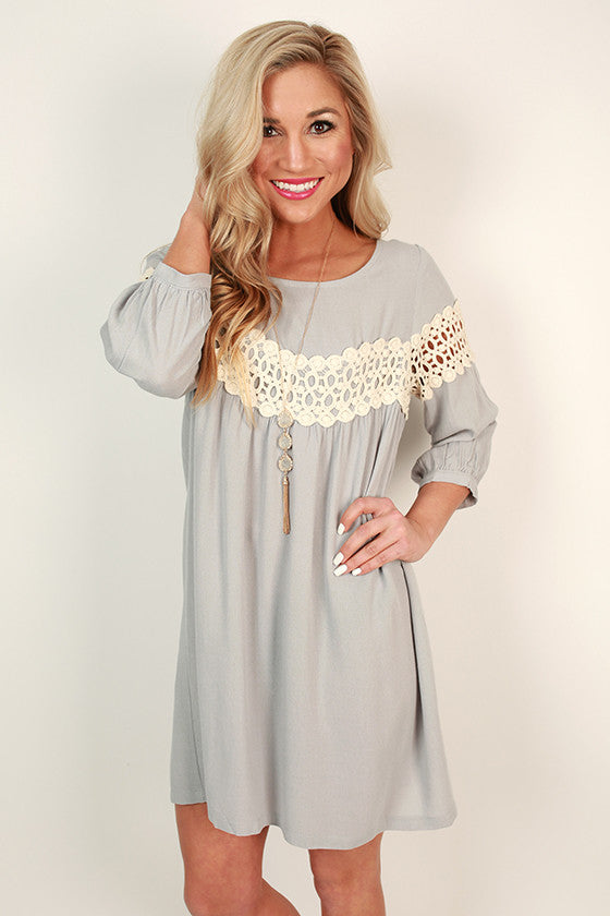 On Cloud Nine Dress in Grey