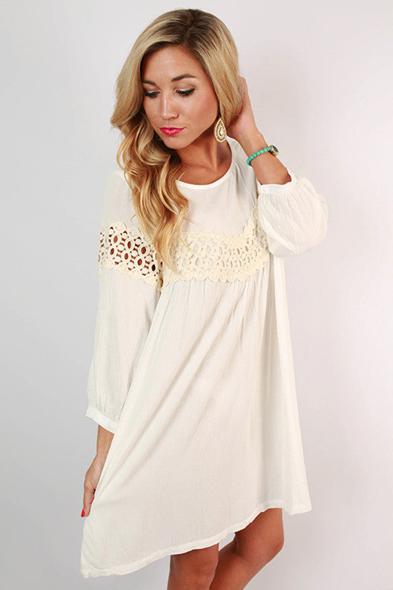 On Cloud Nine Dress in White