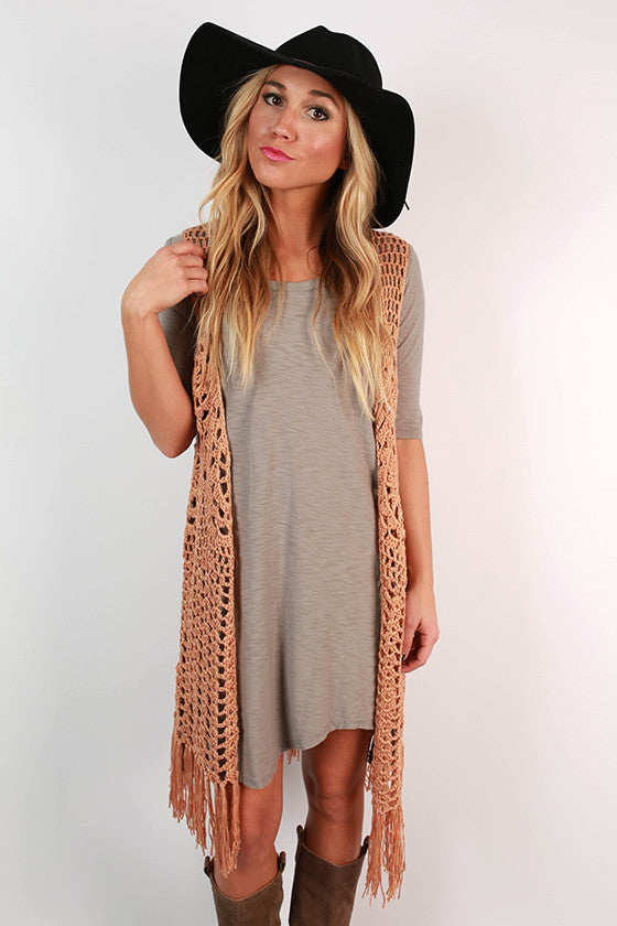Kiss & Run Vest in Tan