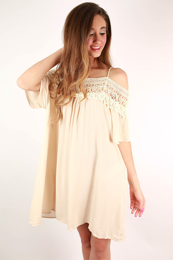The Best Of Days Crochet Dress in Cream