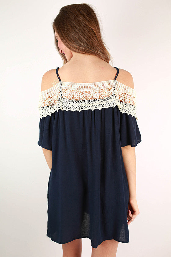 The Best Of Days Crochet Dress in Navy