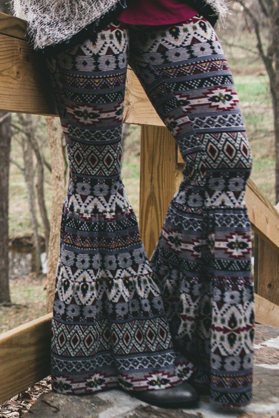 Do A Little Dance Sweater Bell Pants in Grey