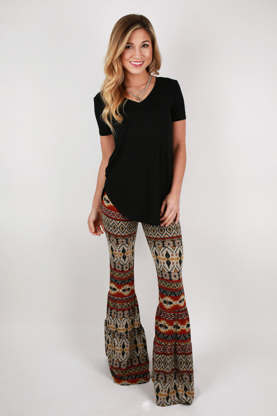 Do A Little Dance Sweater Bell Pants in Rust