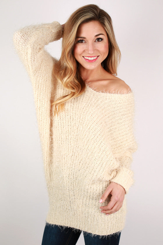 Softer Than Clouds Tunic Sweater in Cream