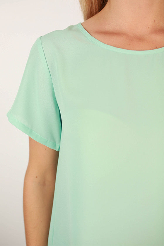 Happy Pretty Girl Top in Mint