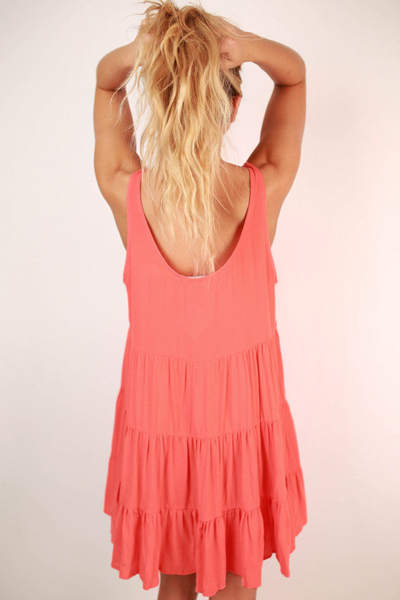 For The Twirl Of It Dress in Coral