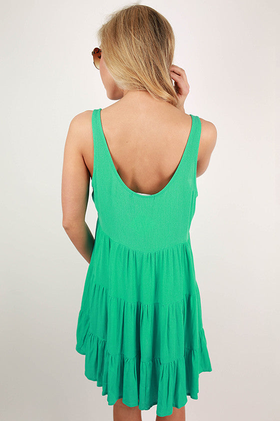 For The Twirl Of It Dress in Aqua