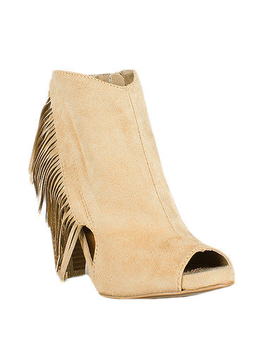 The Audrey Bootie in Taupe