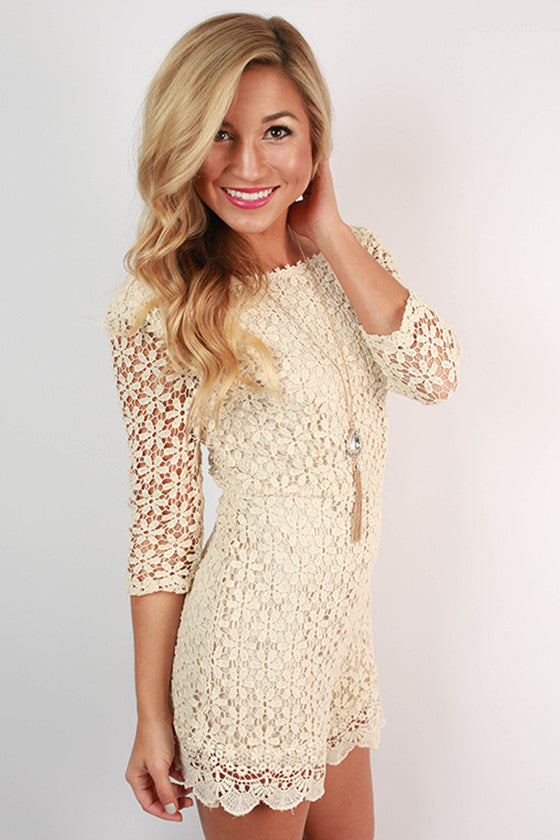 Oh So Divine Lace Romper
