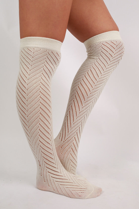 Naturally Beautiful Sock Ivory