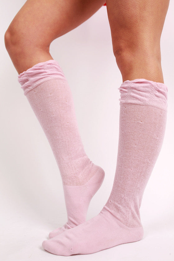 Oh So Chic Sock in Pink
