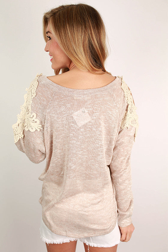 Life is Better Fabulous Top in Oatmeal