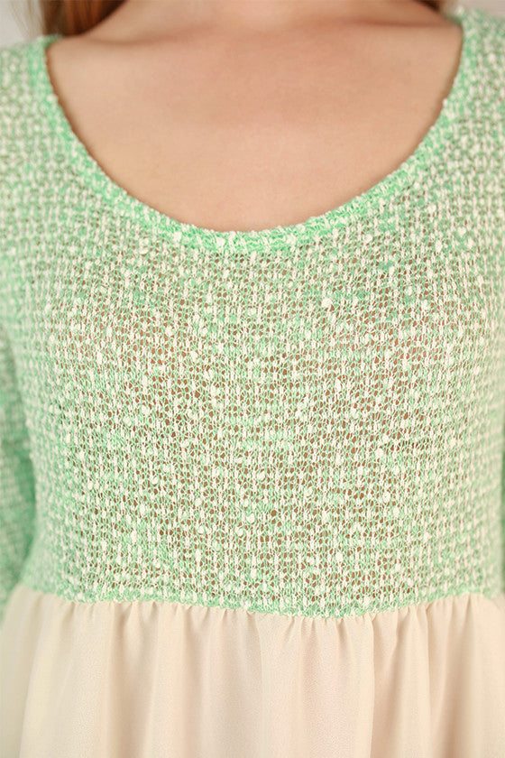Lola Grace Top in Mint