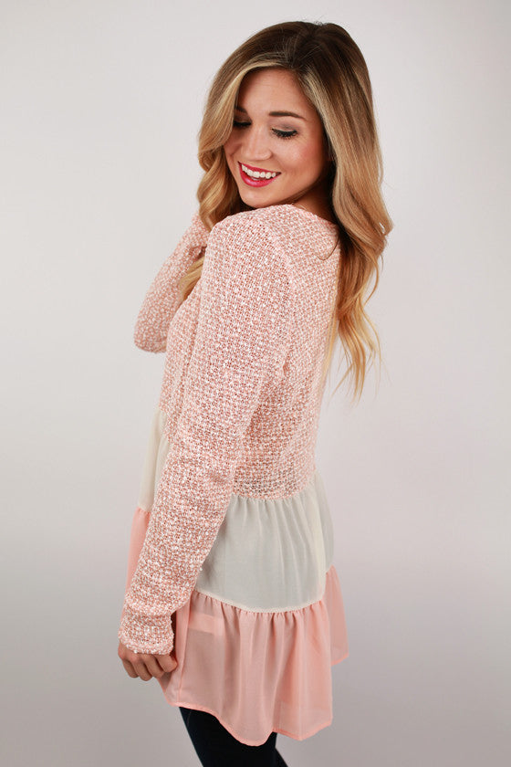 Lola Grace Top in Peach