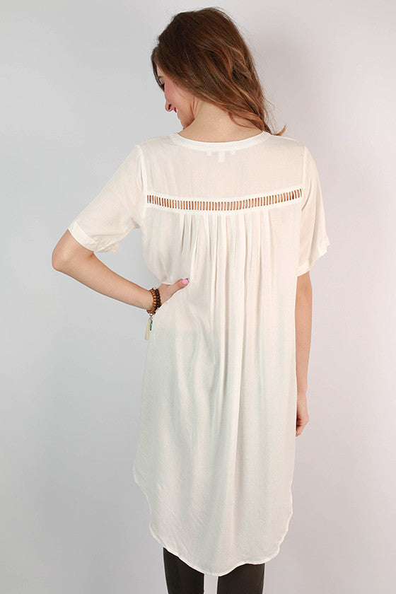 So Not Basic Tunic in Ivory