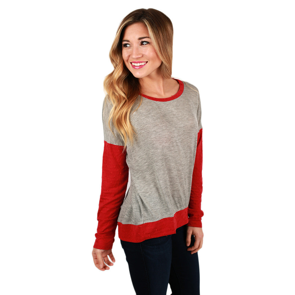 So Comfy So Chic Top in Red