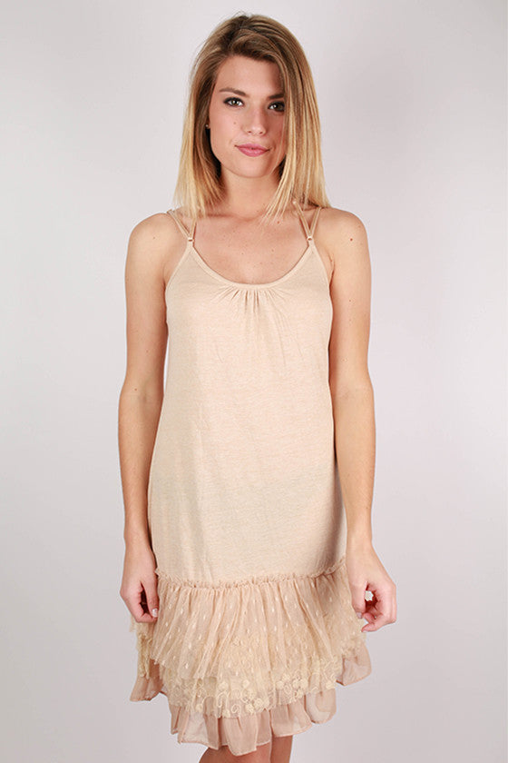 The Finishing Top Layering Slip in Beige