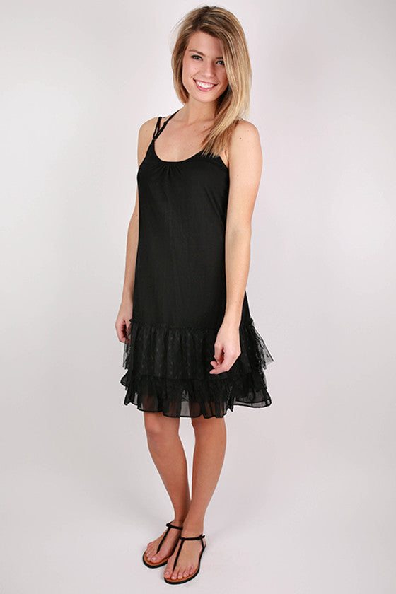 The Finishing Top Layering Slip in Black