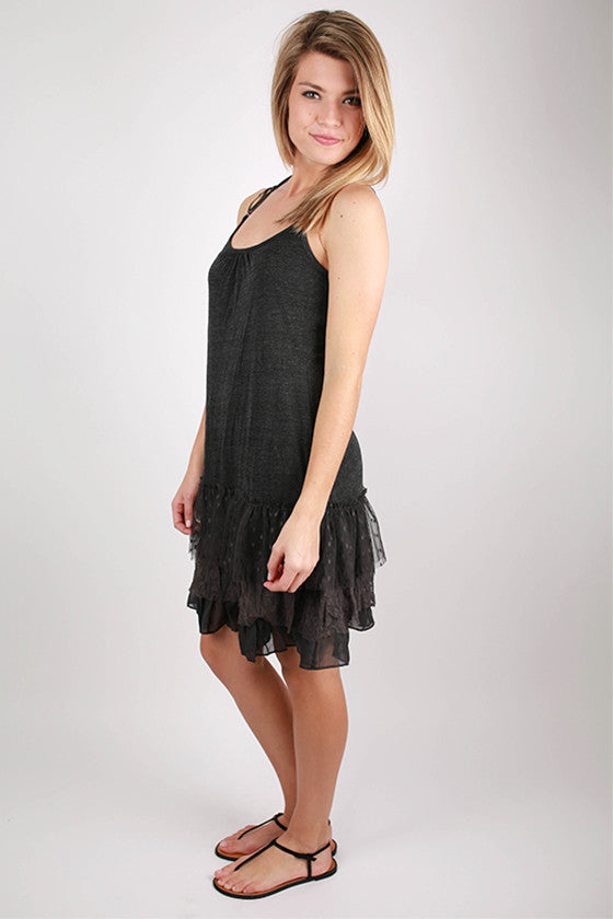 The Finishing Top Layering Slip in Charcoal