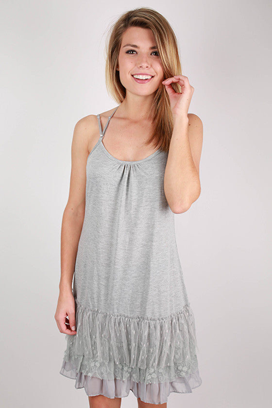 The Finishing Top Layering Slip in Grey