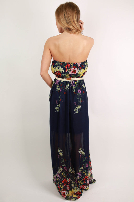 Lovely Girl Maxi in Navy