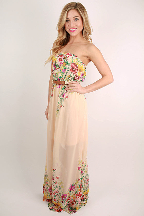 Lovely Girl Maxi in Peach