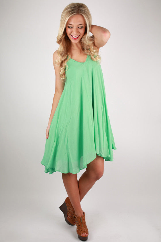 Pretty Like Peonies Dress in Mint