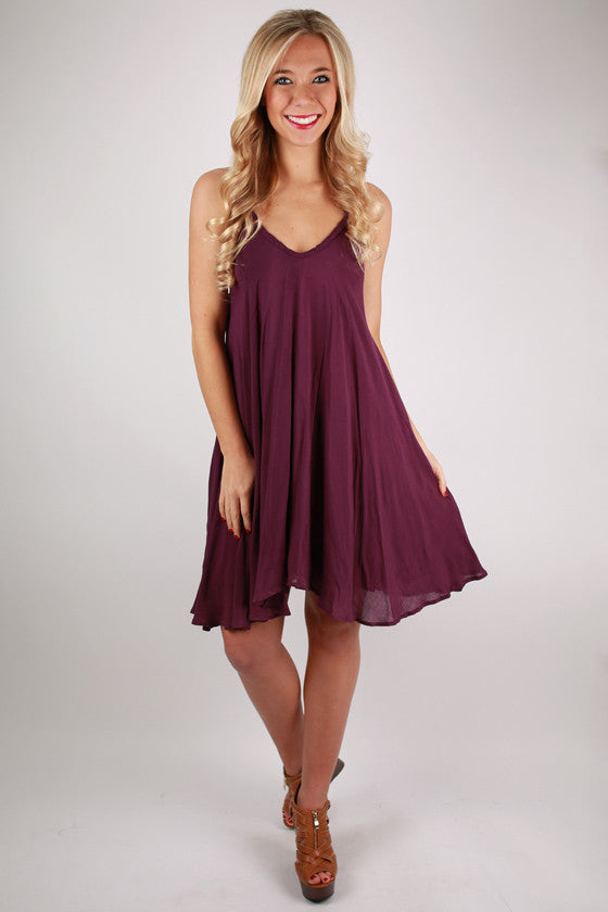 Pretty Like Peonies Dress in Plum