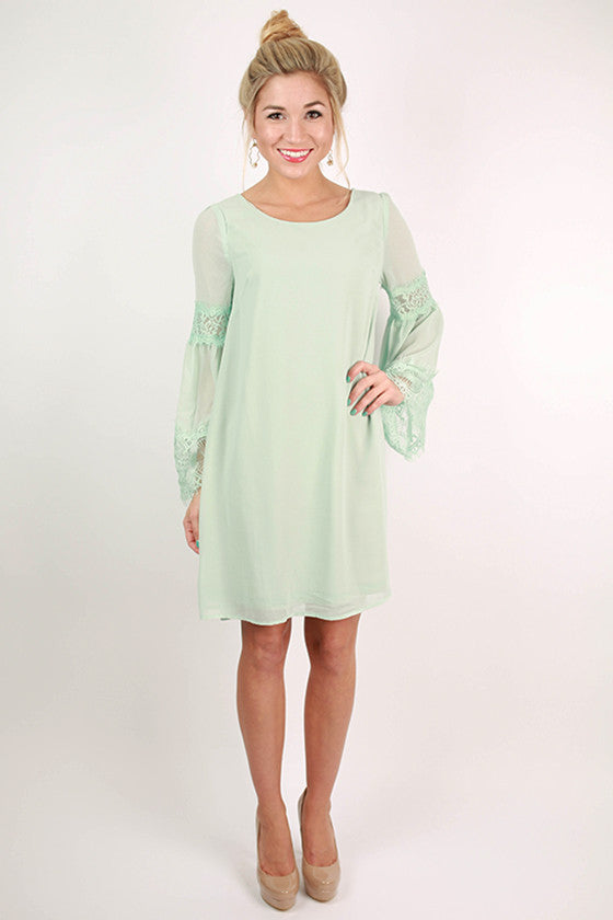 All About That Lace Dress in Mint