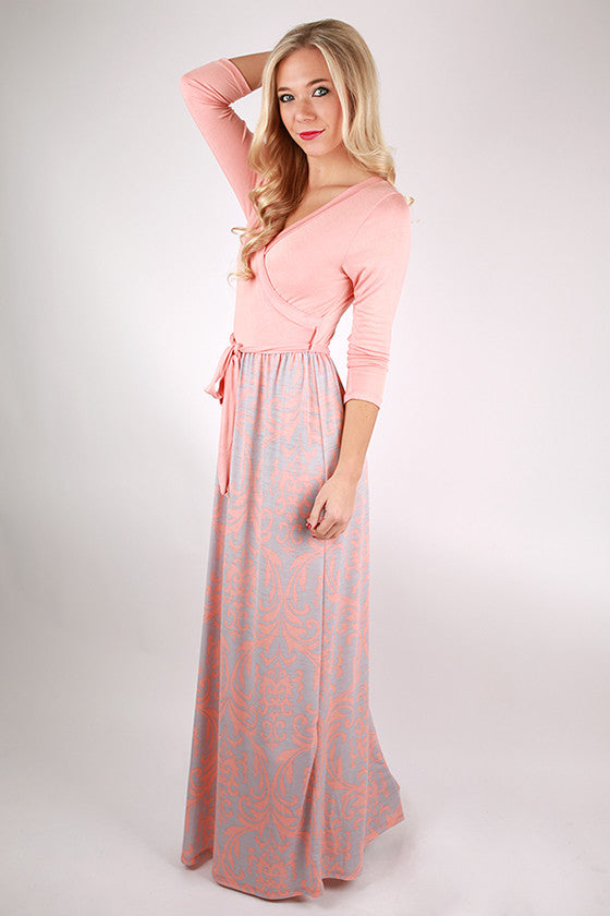 Time To Shine Maxi in Peach