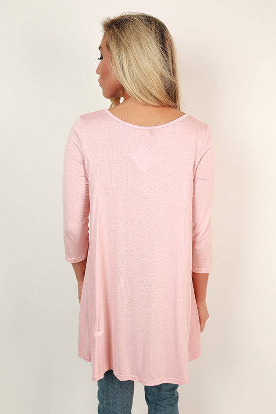 Basically Beautiful Tee in Baby Pink