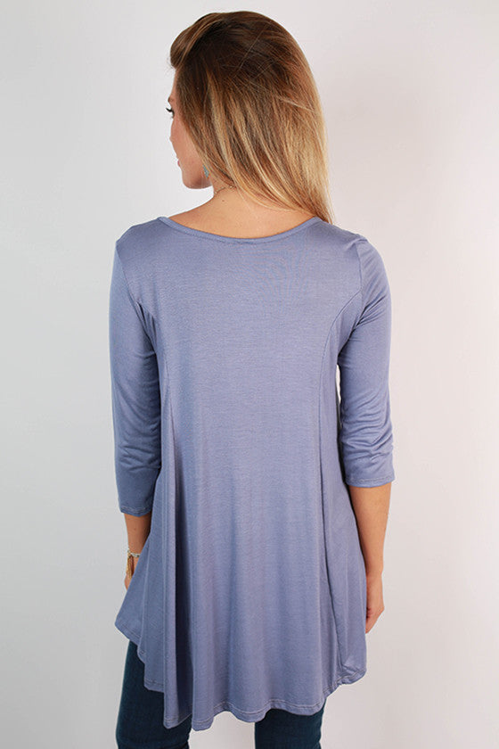 Basically Beautiful Tee in Periwinkle