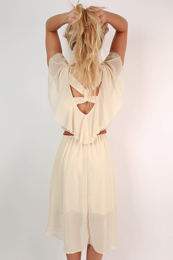 Head In The Clouds Dress in Beige