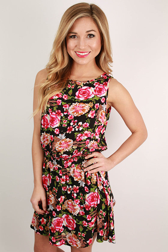 Smiling & Smitten Dress in Black