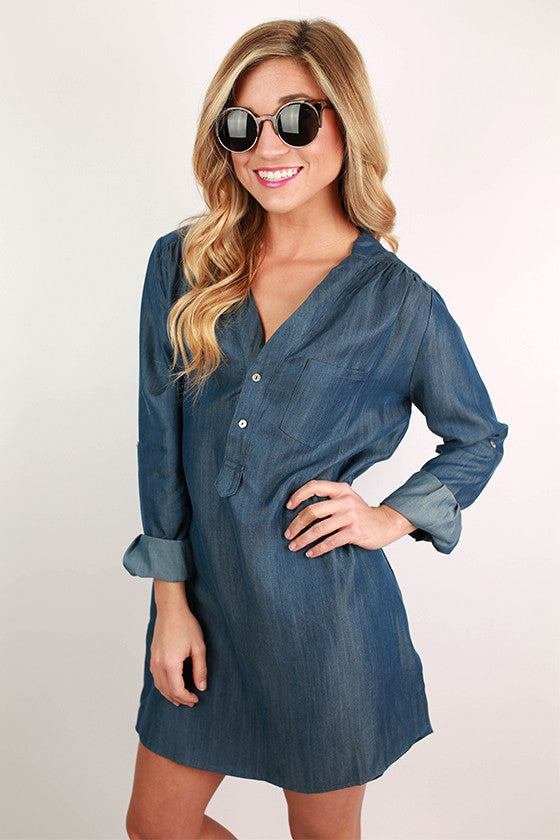 Basic & Beautiful Denim Tunic Dress