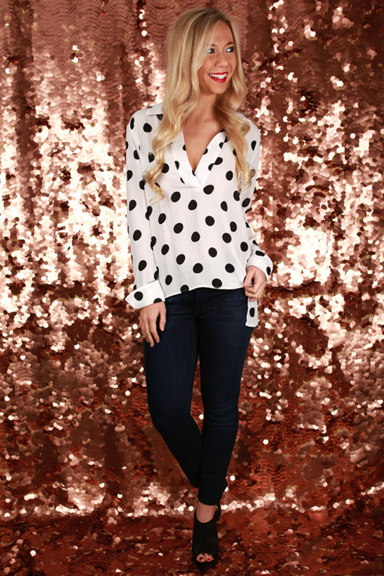Dots Desire Top in White