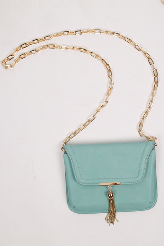 Oh So Chic Clutch in Pale Blue