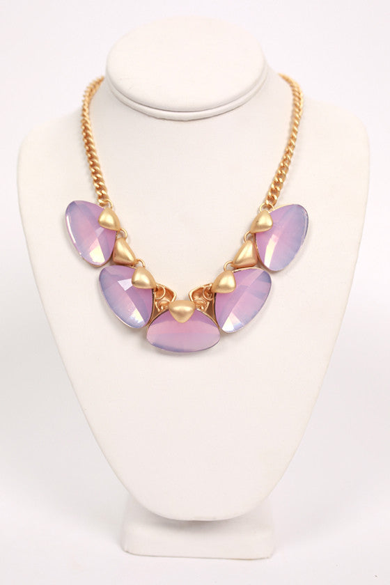 Shine Bright Necklace in Purple