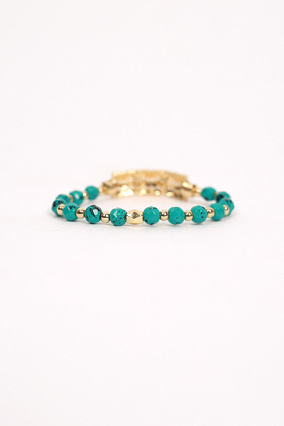 Pretty Little Details Bracelet in Turquoise