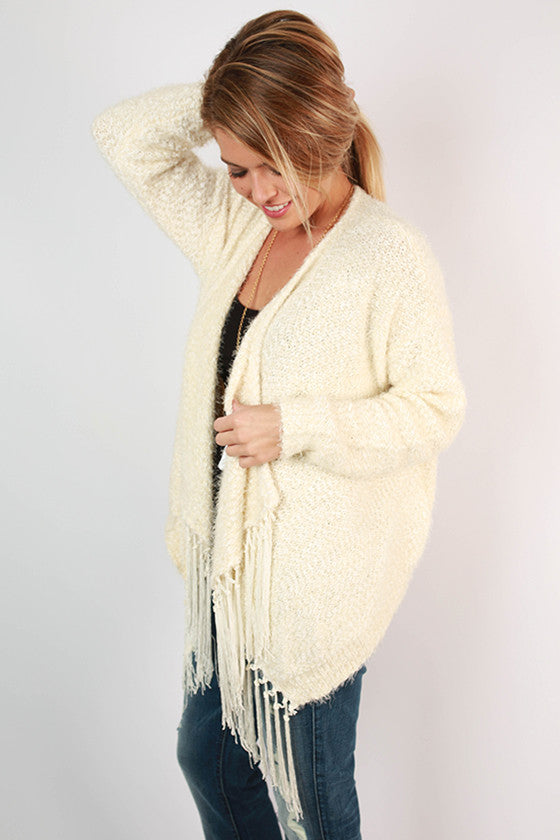 Girl To Adore Cardigan in Ivory