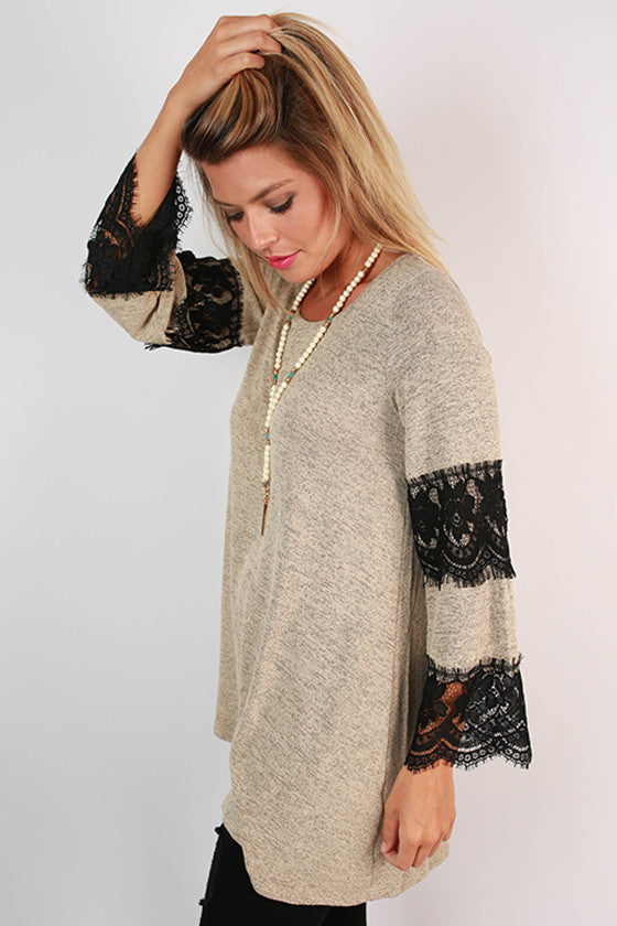 Playing Favorites Tunic in Beige