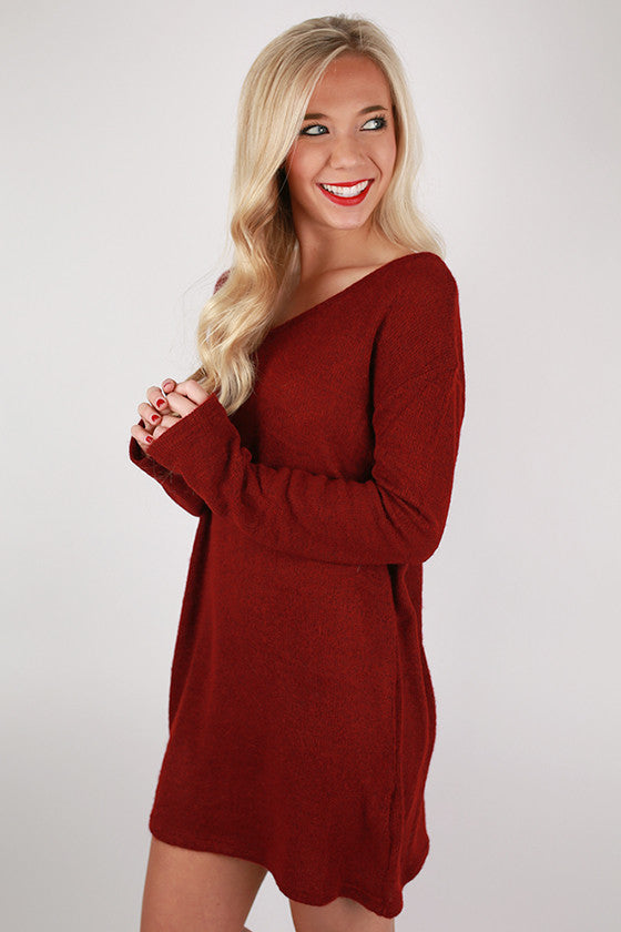 PIKO Tunic Sweater in Wine