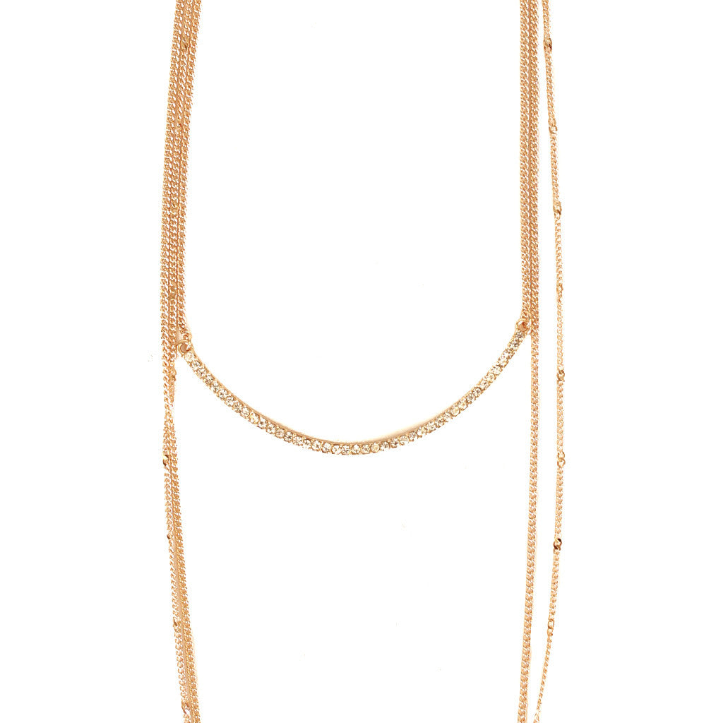 Crystal Bar Convertible Necklace