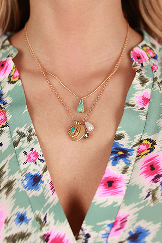 Mix Teardrops Convertible Necklace