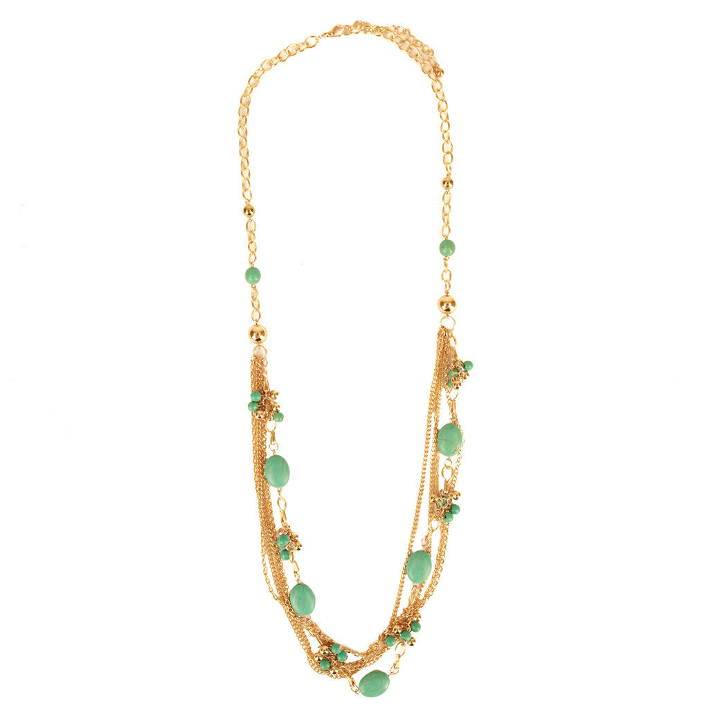 Beads & Chain Statement Layer Necklace