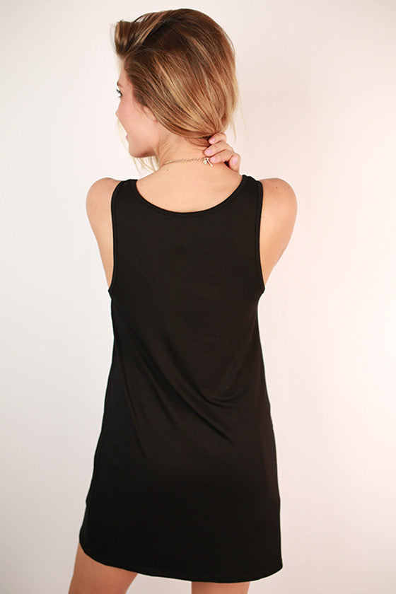 Bamboo Tunic Tank in Black