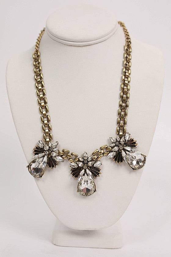 Crystal Statement Collar Necklace