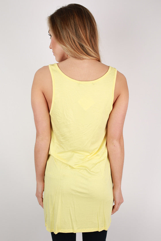Bamboo Tunic Tank in Yellow